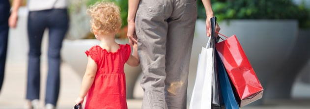 How to survive shopping with the kids