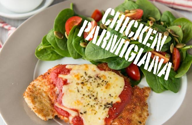 Recipe: Chicken parmigiana with side salad