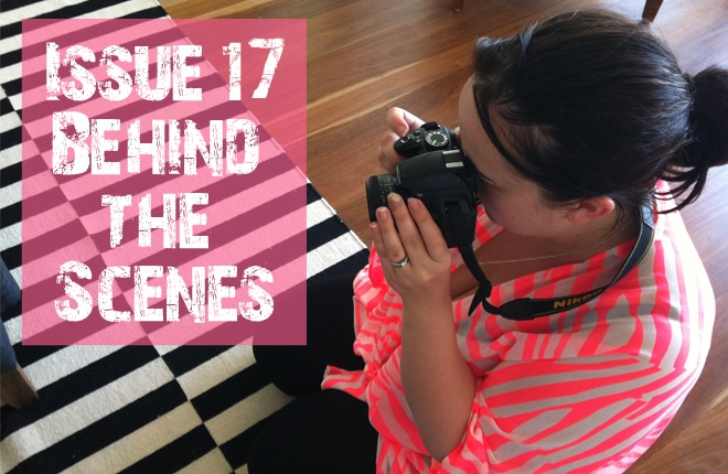 Issue 17 behind the scenes