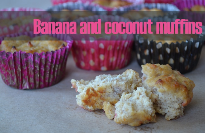 Recipe: Banana and coconut muffins