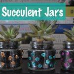 DIY Succulent jar
