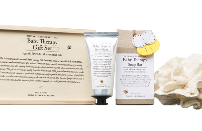 WIN one of Five Baby Therapy Gift Sets from The Aromatherapy Company