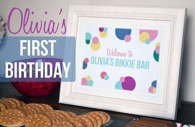 Olivia's first birthday party