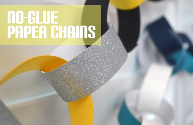 No-glue paper chains