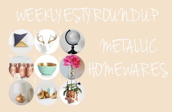 Weekly etsy: Metallic homewares