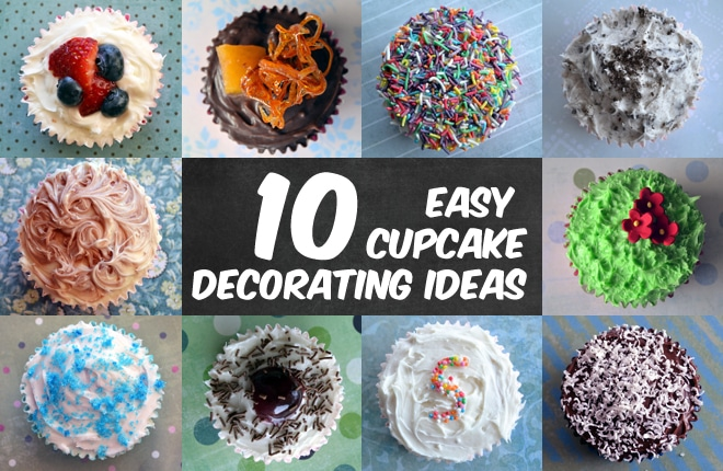 10 easy cupcake decorating ideas