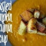 Roasted pumpkin and cumin soup