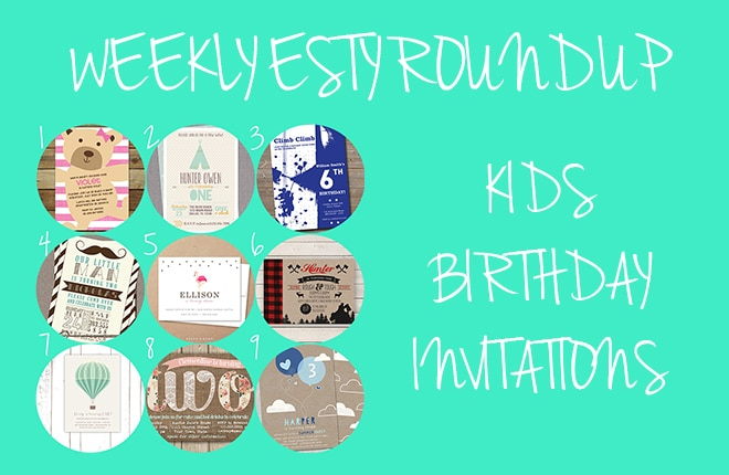 On trend kids birthday invitations