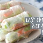 Easy chicken rice paper rolls