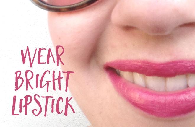 Friday challenge: wear bright lipstick