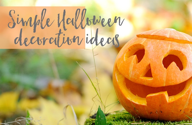 Simple Halloween decoration ideas