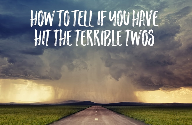 How to tell if you have hit the terrible twos