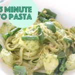 15 minute pesto pasta recipe