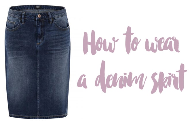 How to wear a denim skirt: 4 style options