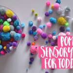 Pom pom sensory play for toddlers