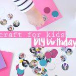 DIY birthday card craft for kids