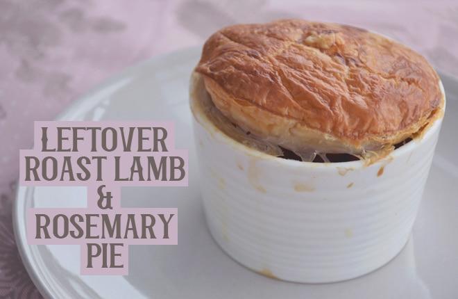 Leftover roast lamb and rosemary pie