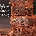 Chocolate and macadamia nut brownies