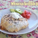 Mexican beef filo parcels