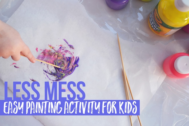Less mess easy painting activity for kids