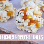 Fruity honey popcorn balls