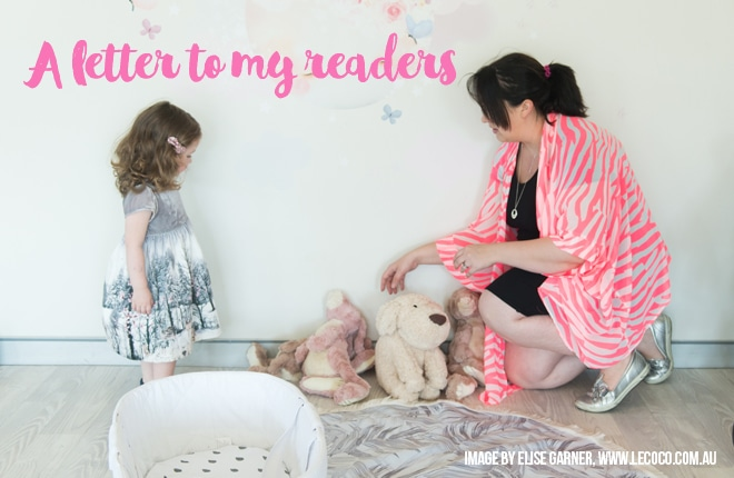 A letter to my readers (that's you!)
