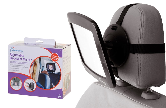 WIN one of five Dreambaby Adjustable Backseat Mirrors
