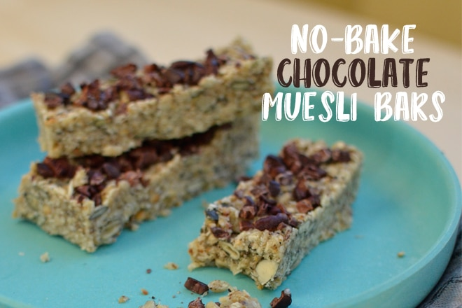 no-bake chocolate muesli bars