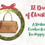 Win a Storksak Caroline leather tan nappy bag