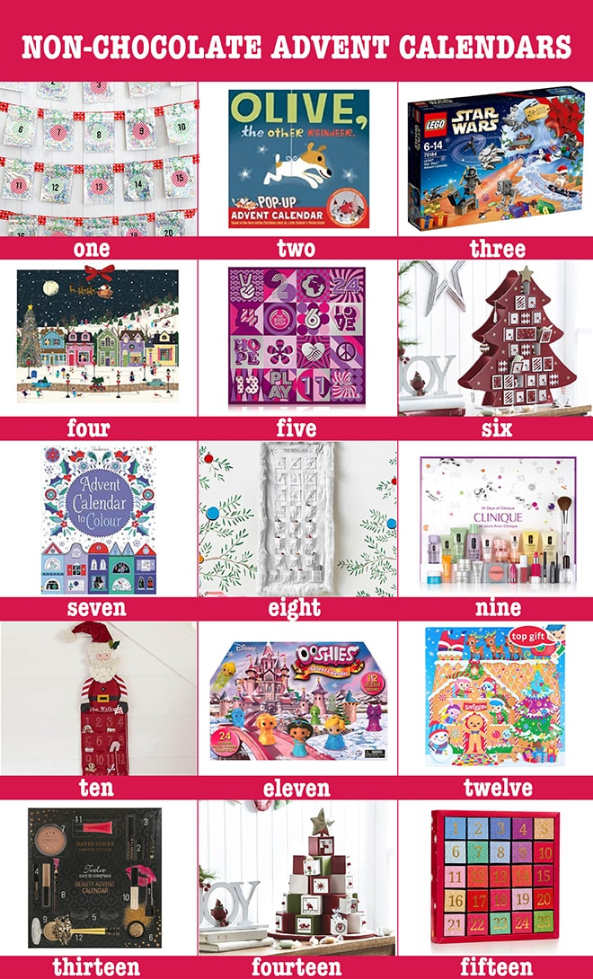 16 non chocolate advent calendars for christmas 2017 kid Advent calendar non chocolate