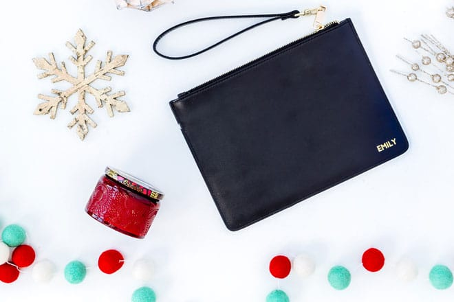 Monogram pouch christmas gift