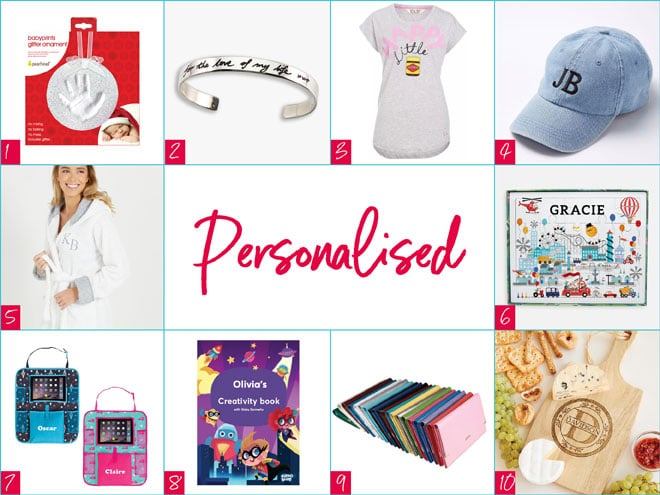 Personalised gifts Christmas 2017