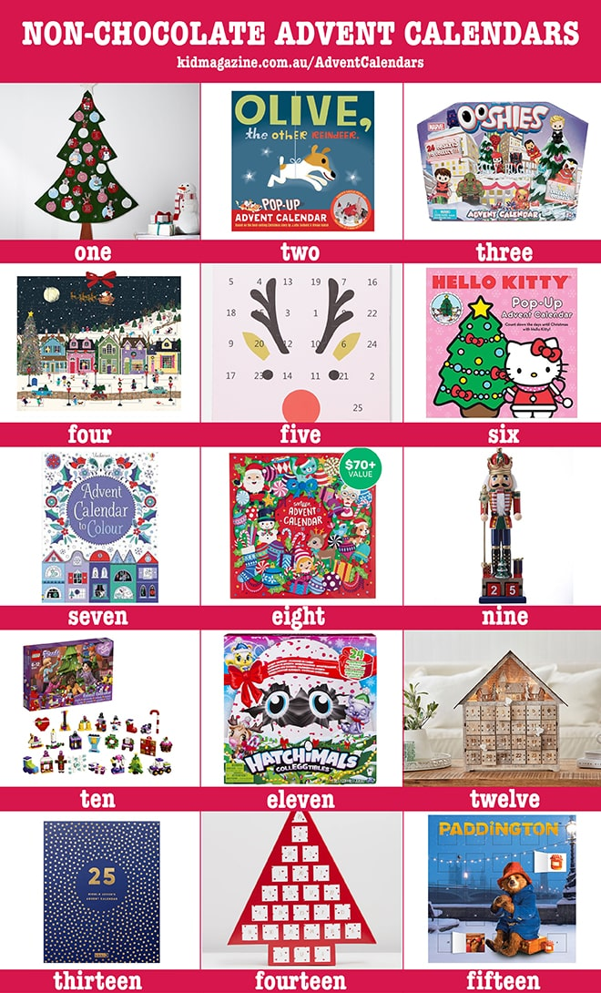 non-chocolate advent calendar ideas