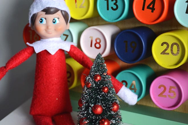 Simple elf on the shelf ideas - no fuss