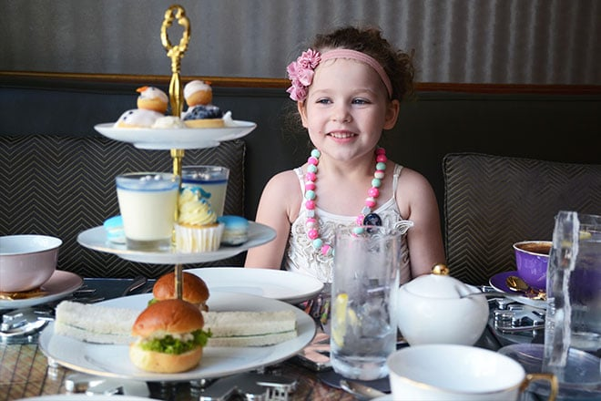 Frosted kids high tea Sofitel Sydney
