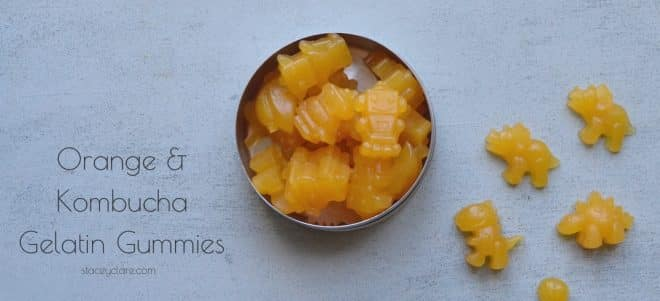 Orange kombucha gelatin gummies