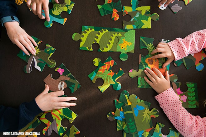 fun family activities - puzzles