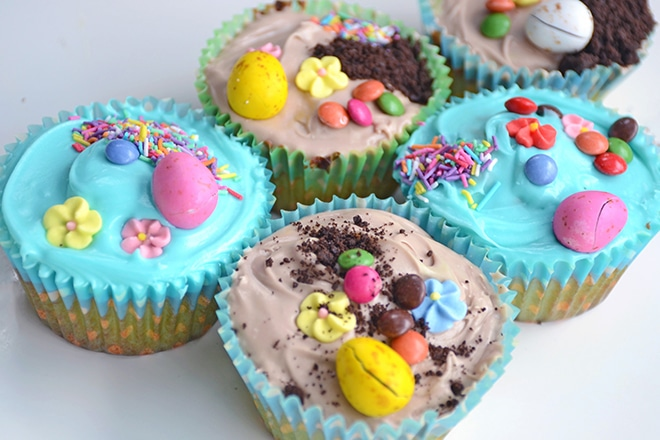 cute easter cupcakes for kids