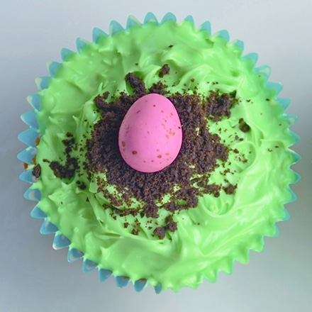 easter egg nests cupcakes