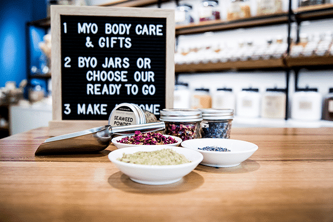 Make your own bodycare at Biome Eco Stores