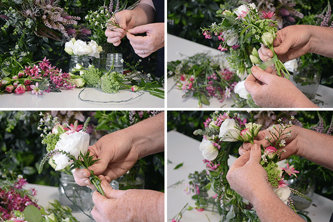 steps to make a flower crown