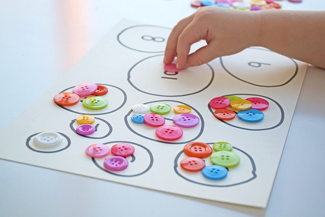 Counting circles number activity