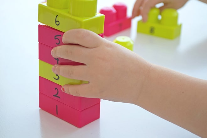 Number blocks counting activity