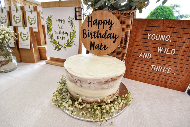 Nate's 3rd birthday – young, wild and three