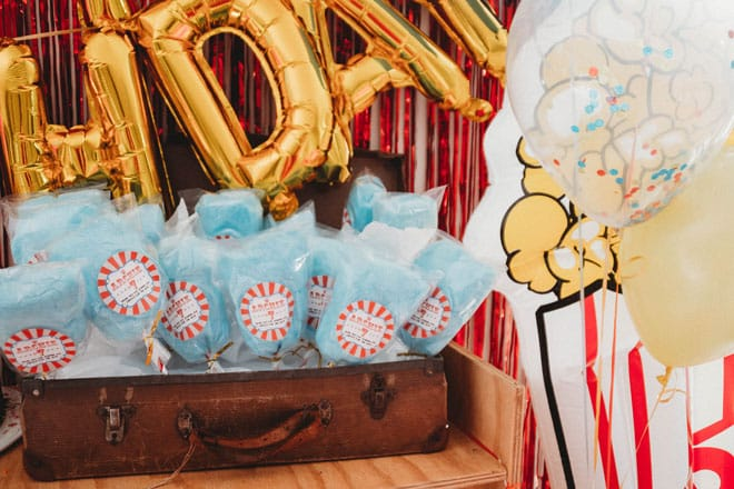 Circus party fairy floss