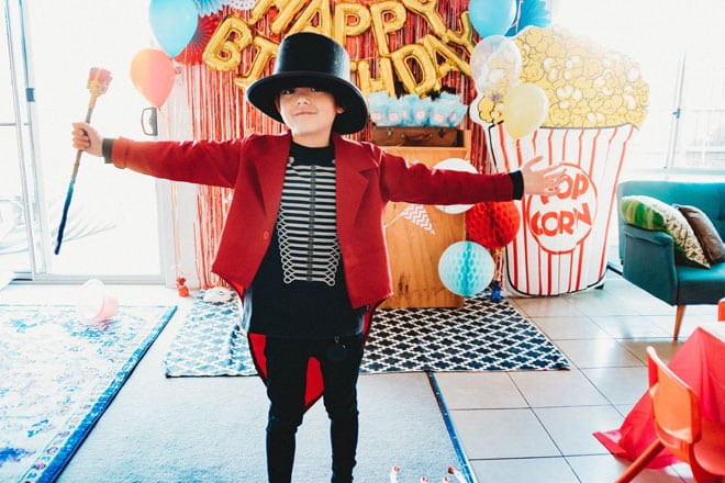 the greatest showman kids birthday party