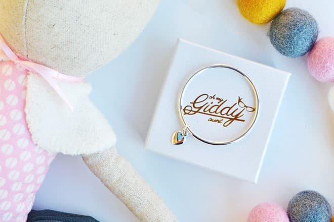 Win a baby bangle from Oh My Giddy Aunt
