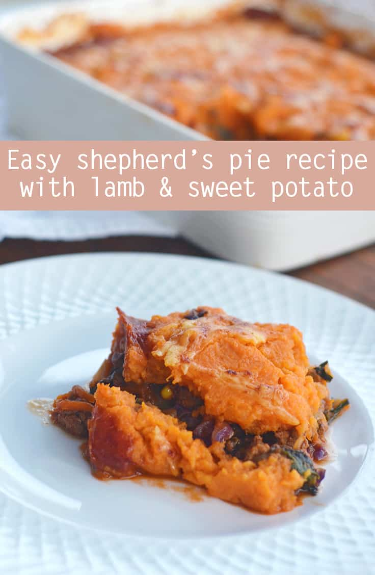 Easy shepherd's pie with lamb and sweet potato