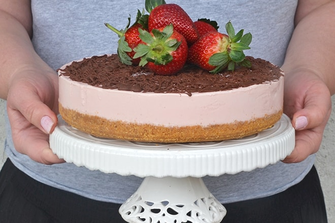 fresh strawberry recipes - strawberry cheesecake