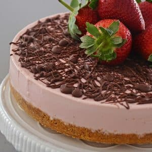 no bake strawberry cheesecake no gelatin